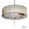 Đèn vải đĩa bay vòng trụ vẽ hoa KH-DTR060