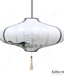 Đèn vải đĩa bay vẽ hoa KH-DTR052