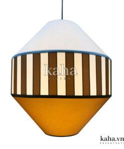 Đèn vải tú cầu dán mica KH-DTR023