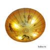 Đèn vải đĩa bay vẽ hoa KH-DTR012