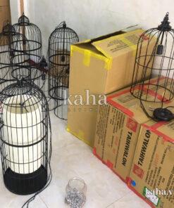 Đèn treo khung sắt kiểu lồng chim KH-DTR073