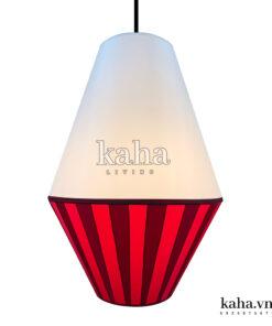 Đèn vải tú cầu dán mica KH-DTR024