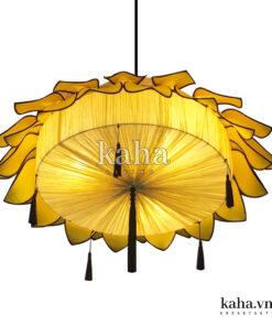 Đèn vải hoa sen treo chùa KH-DTR017