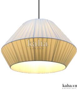 Đèn treo vải lụa xếp ly KH-DTR006